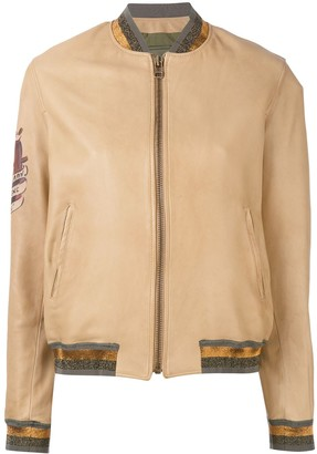 Mr & Mrs Italy zipped bomber jacket