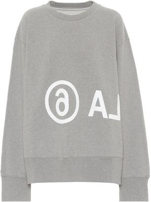 MM6 MAISON MARGIELA Logo cotton-jersey sweatshirt