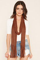 Forever 21 FOREVER 21+ Faux Suede Fringed Scarf
