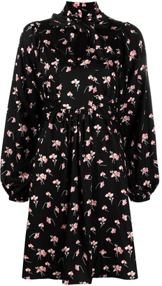 By Ti Mo Floral-Print Long-Sleeve Dress