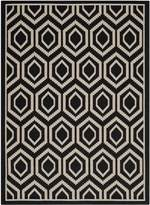 Safavieh Courtyard Collection CY6902-266 Black and Beige Indoor/Outdoor Area Rug, 4-Feet by 5-Feet 7-Inch