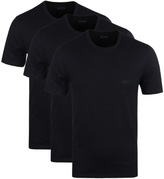 Boss Black Cotton Short Sleeve Crew Neck T-shirts (3 Pack)