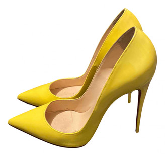 Christian Louboutin So Kate Yellow Patent leather Heels