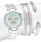 Adrienne Vittadini Adrienne Vittad Silvertone Watch and Bracelet Set
