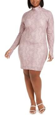 Lala Anthony Trendy Plus Size Thumbhole Bodycon Dress, Created for Macy's
