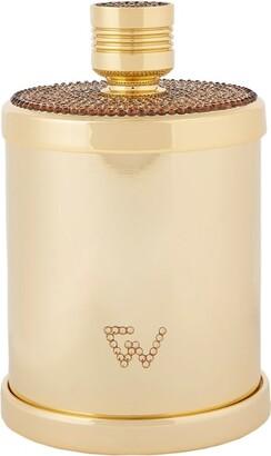 Zodiac Cylinder Swarovski Crystal Gold-Plated Cotton Bud Jar