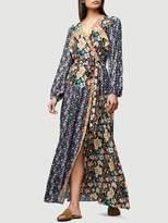 Frame Denim Floral Panel Dress Noir Multi