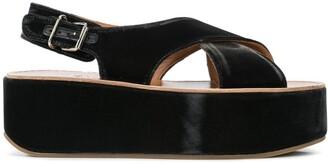 Madison.Maison Open Toe Wedge Heel Sandals