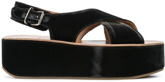 Madison.Maison Open Toe Wedge Heel Sandals