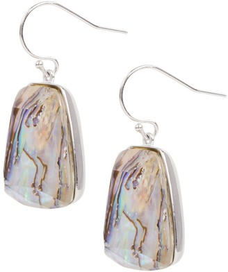 Saachi Prism Rhodium-Plated & Mother-Of-Pearl Drop Earrings