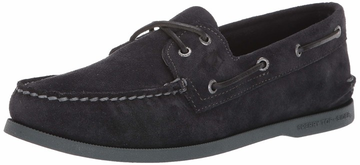 Sperry Black Suede Men's Shoes | over