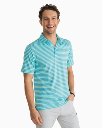 Southern Tide Driver Striped Performance Polo Shirt