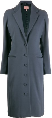 Romeo Gigli Pre-Owned 1996 Fitted Midi Buttoned Coat