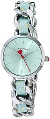 Betsey Johnson Dainty Does It Watch (Floral/Silver) Watches