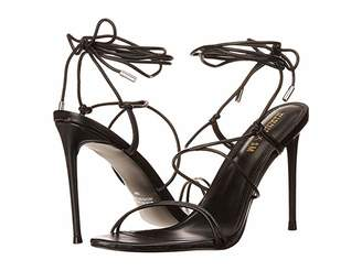 Steve Madden Winnie Harlow x Badgirl Heeled Sandal (Black Leather) Women's Shoes