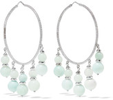 Carolina Bucci Recharmed 18-karat White Gold Amazonite Hoop Earrings