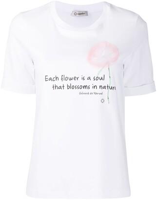 Peserico embellished floral T-shirt