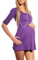 Purpless Maternity New Ladies Maternity Scoop Neck Top Tunic Pregnancy 5006