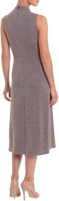 Donna Morgan Striped Mock Neck Sleeveless Flared Midi Dress
