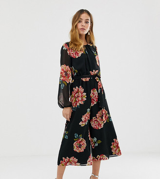 Asos DESIGN Petite bold floral print jumpsuit
