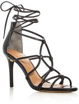 Halston Brielle Caged Ankle Tie Sandals