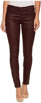 AG Adriano Goldschmied The Leggings Ankle in Leatherette Light Deep Currant Women's Casual Pants