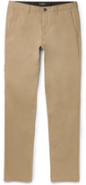 Theory Zaine Slim-fit Stretch Cotton-blend Twill Trousers - Tan