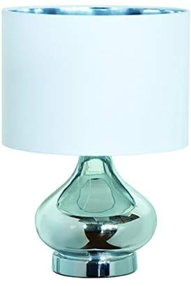 Village At Home Clarissa Table Lamp, Metal, Silver