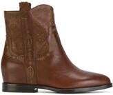 Ash cowboy ankle boots