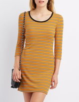 Charlotte Russe Striped Ringer Bodycon Dress