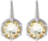 Judith Ripka Eclipse Round Canary Crystal Drop Earrings