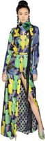 Lanvin Printed Lurex & Silk Georgette Dress