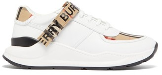 Burberry Ronnie Leather Trainers - White Multi