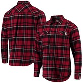 Columbia Unbranded Men's Crimson Washington State Cougars Plaid Collegiate Flare Gun Long Sleeve Flannel Button-Up Shirt