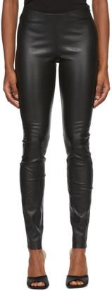 Stand Studio Black Leather Cordelia Leggings