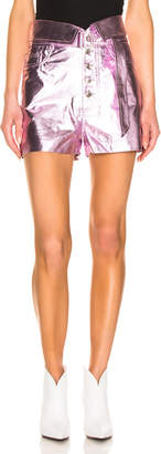 IRO Kompa Shorts in Blush Lurex | FWRD