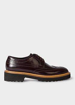 Women's Burgundy Leather 'Vegas' Brogues