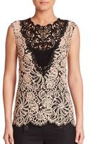 Nanette Lepore Coquette Colorblock Lace Top