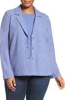 Eileen Fisher Plus Size Women's Notch Collar Merino Wool Jacket