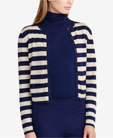 Lauren Ralph Lauren Striped Metallic Cardigan
