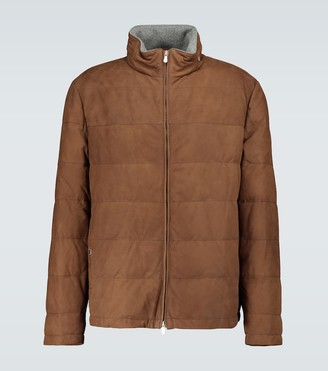 Brunello Cucinelli Padded leather jacket