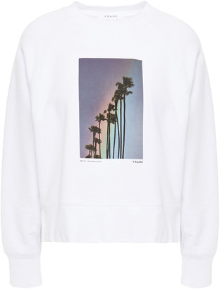 Frame Printed French Cotton-terry Sweatshirt