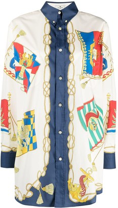Etro Nautical-Print Shirt