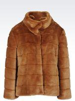 Armani Jeans Blouson In Faux Fur