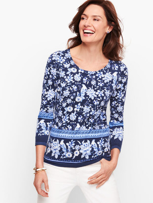 Talbots Button Cuff Sweater - Toile