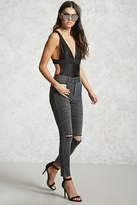 Forever 21 FOREVER 21+ Distressed Skinny Jeans