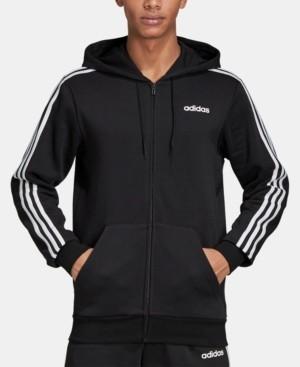 adidas Men's Essentials 3-Stripes Fleece Zip Hoodie