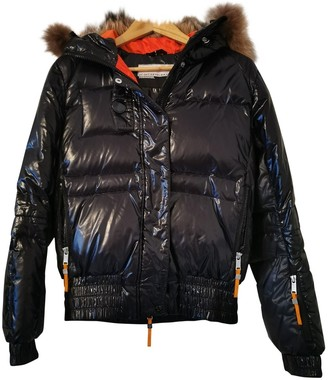 JC de CASTELBAJAC Black Leather Jacket for Women