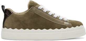 Chloé Green Suede Lauren Sneakers