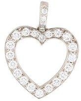 Tiffany & Co. Platinum Diamond Heart Pendant